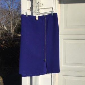 NWT Talbots Royal Blue Side Slit Visible Zipper